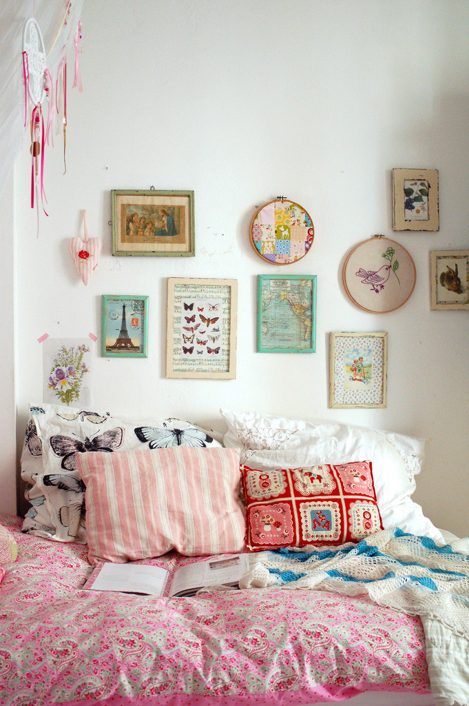 Bright comfy bed to spend lazy Sunday afternoons in