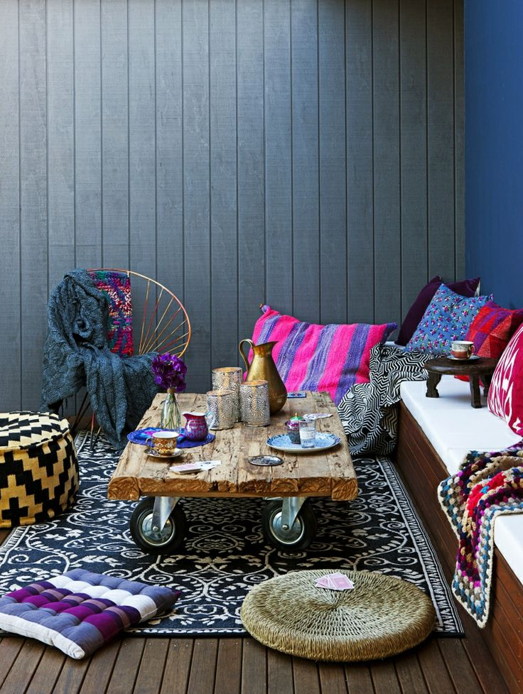 Beautiful bohemian and fun outdoor space