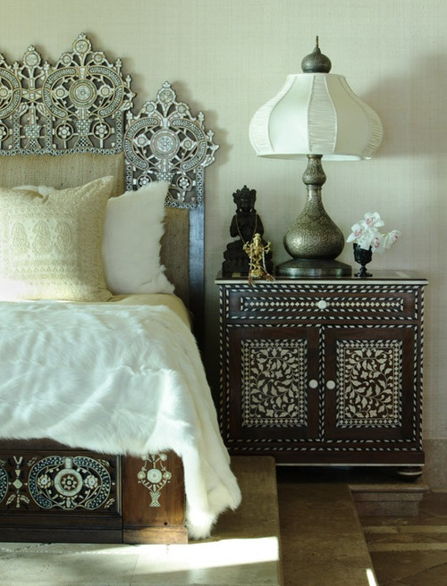 Boho patterns on the furniture - bohemian design