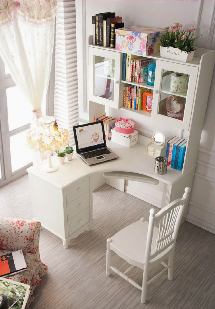 ... Little Corner Desk With A Lot Of Space For Storage   Home Office Decor  ...