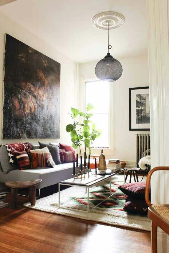 Pillows give it a rich boho feel - modern boho design